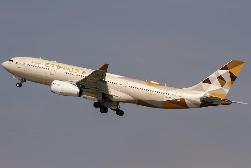 Etihad Airways uçuşlarını durdurdu.