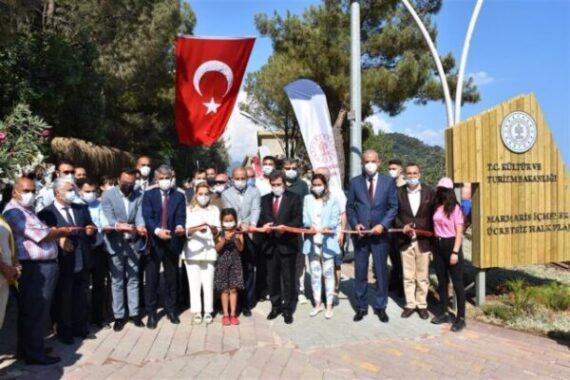 Marmaris İçmeler Halk Plajı Açıldı